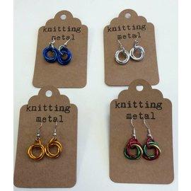 Knitting Metal Mobius Earrings