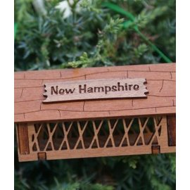 Laserkrafts 3D Wooden Ornaments - Covered Bridge