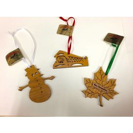 Laserkrafts NH Laser Cut Flat Wooden Ornaments