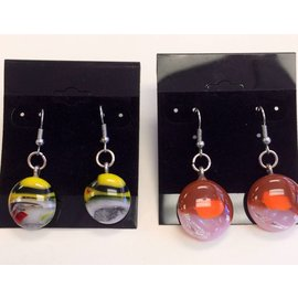 Marissa Vitolo Fused Glass dangle earring