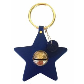 New England Bells Burgundy Leather Star Bells