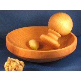 NH Bowl & Board 6-inch Weston Rim Maple Mortar & Pestle