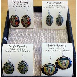 Suzy's Pysanky Jewelry Pysanky Egg Shell Earrings