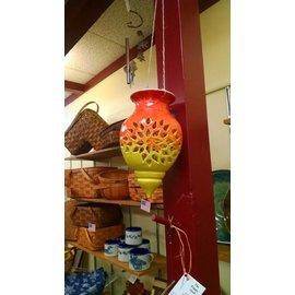 Rainmaker Pottery Ceramic Lantern- Orange