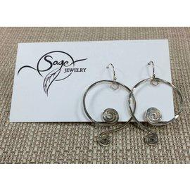 Sage Jewelry Sterling Silver Swirls Earrings