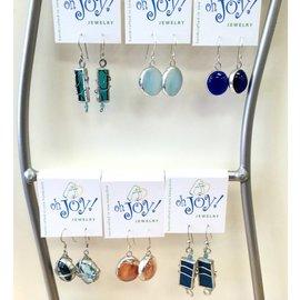 SB Creative Colored Glass Earrings