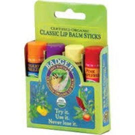 W.S. Badger Classic Lip Balm Sticks 4 pack - Green