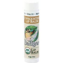 W.S. Badger Organic Unscented Lip Balm
