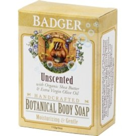 W.S. Badger Unscented Botanical Body Soap 4oz