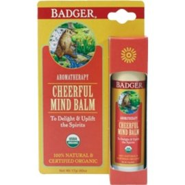 W.S. Badger Aromatherapy Cheerful Mind Balm - .60 oz
