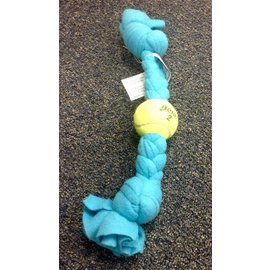 Woof Purr Studio Squeaky Recycled Tennis Ball Braid