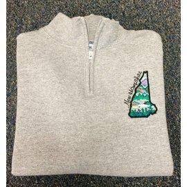 DF Embroidery NH Quarter Zip Sweatshirt