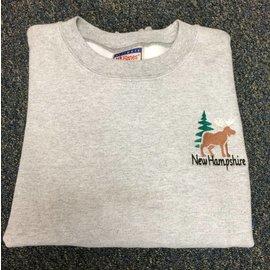 DF Embroidery Moose and Pine Tree Sweatshirt