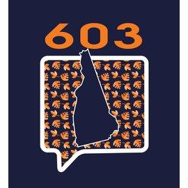 Talk It Up Tees New Hampshire NH 603 Crew T-Shirt