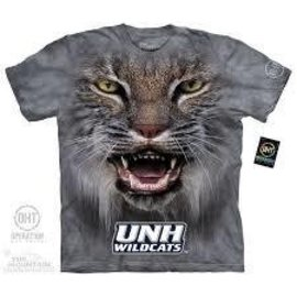 The Mountain Big Face UNH Wildcats Adult T-Shirt