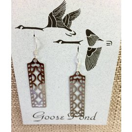 Goose Pond Filigree Rectangle Earrings