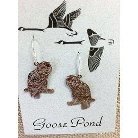 Goose Pond Hoot Owl Earrings