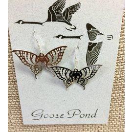 Goose Pond Butterfly Earrings
