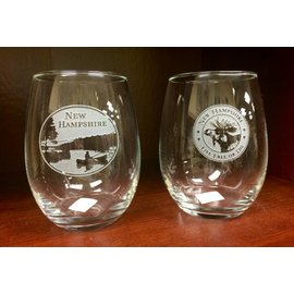 American Crystal New Hampshire Stemless Wine Glass