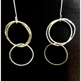 Good Gaud Designs Silver Double Hoop Earrings