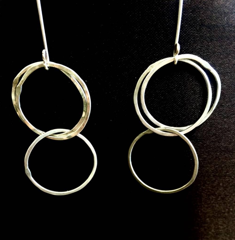 Good Gaud Designs Silver Double Hoop Earrings