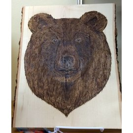 Ryan Derby - Native American Artisan Black Bear on Basswood Native American Plaque