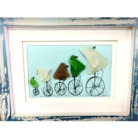 Ocean Current Art Sea Glass Framed Art