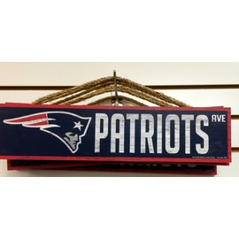 Wincraft Patriots Ave Wood Sign