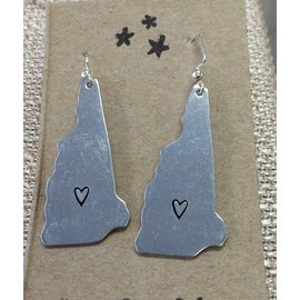 Kind Finds New Hampshire  Charm Earrings