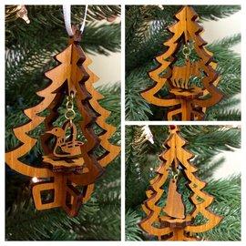 Laserkrafts 3D Tree Lasercut Wooden Ornament