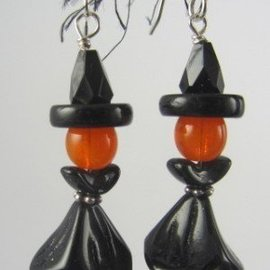 Beadwitching Jewelry Witch Halloween Earrings