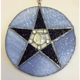 One Witch's Work Studio Stained Glass Pentangle