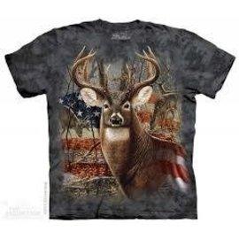 The Mountain Patriotic Buck Tshirt - Adult