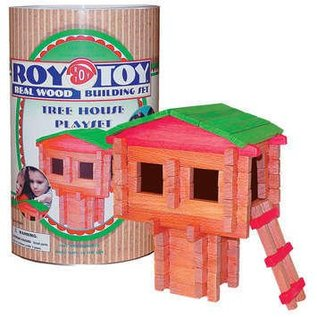 Channel Craft Roy Toy Wood Building Set - Tree House 71 pieces