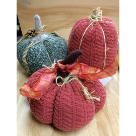 Handcrafted by Holly Sweater Pumpkin - Large