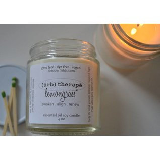 October Fields Farm Essential Oil Soy Candles - 4 oz
