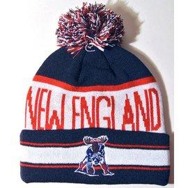 Woods & Sea New England Patriots Moose Pom Pom Hat