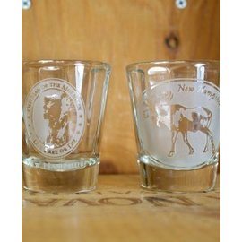 American Crystal New Hampshire Etched Shot Glass