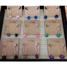 Good Gaud Designs Natural Stone Drop Earrings