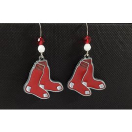 Beadwitching Jewelry Red Sox Earrings