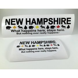 JC Image What Happens in New Hampsire Bumper Sticker / Oval Decal
