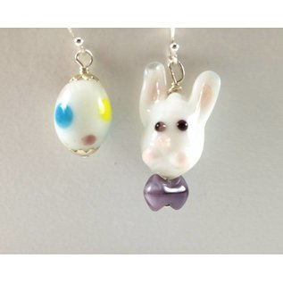 Beadwitching Jewelry Easter Bunny and Egg Earrings