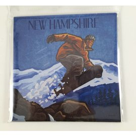 Tree-Free Greetings New Hampshire Snowboarder Magnet
