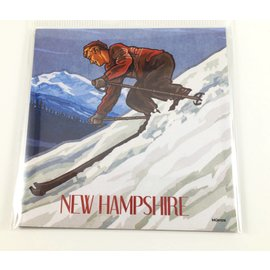 Tree-Free Greetings New Hampshire Skier Magnet