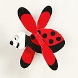 Walston Woodcraft Wooden Ladybug Whirligig Unfinshed Kit