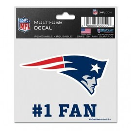Wincraft Patriots #1 Fan Decal