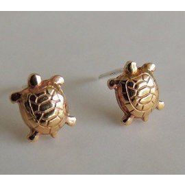 MoodiChic Jewelry Turtle Stud Earrings