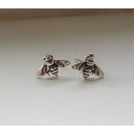 MoodiChic Jewelry Sterling Silver Bee Earrings