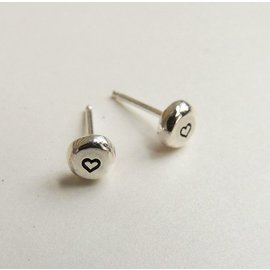 MoodiChic Jewelry Sterling Silver Heart Stud Earrings