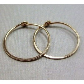 MoodiChic Jewelry Gold Filled Everyday Hoop Earrings